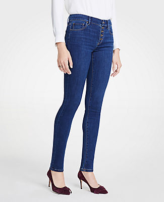 PETITE MODERN BUTTON FLY ALL DAY SKINNY JEANS