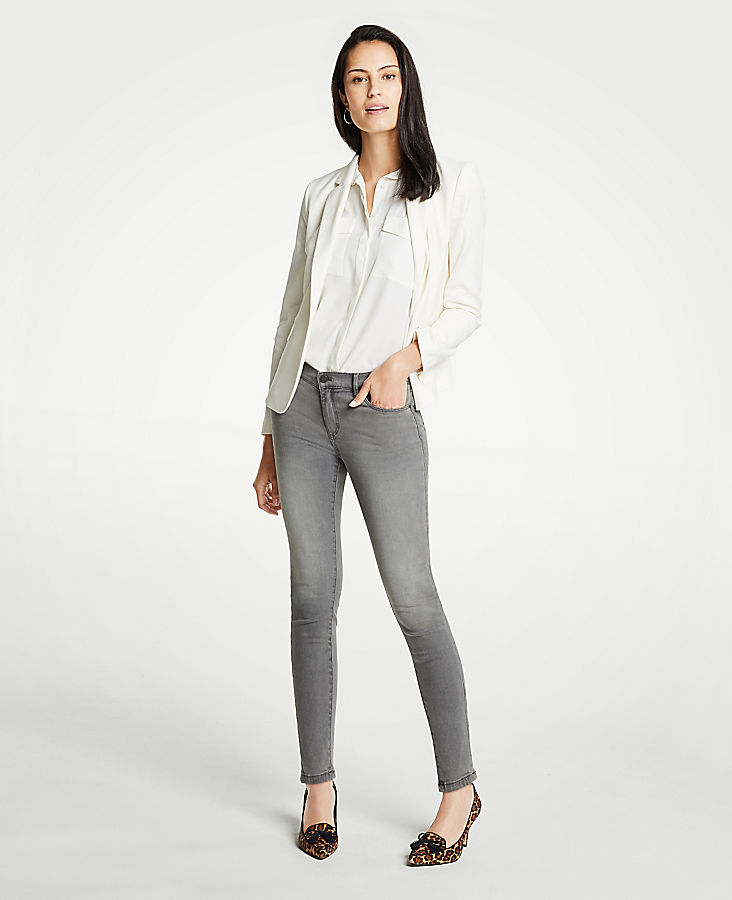 Modern Skinny Jeans In Mid Grey Wash | Tuggl
