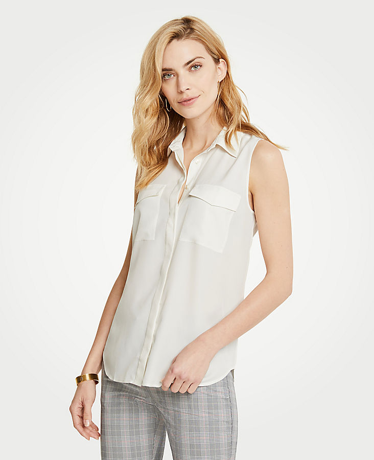 Tall Sleeveless Camp Shirt | Tuggl