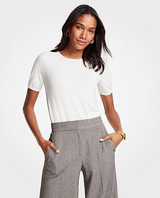 Ann Taylor Short Sleeve Sweater 25688214