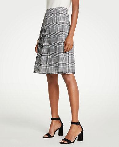 petite plaid skirt