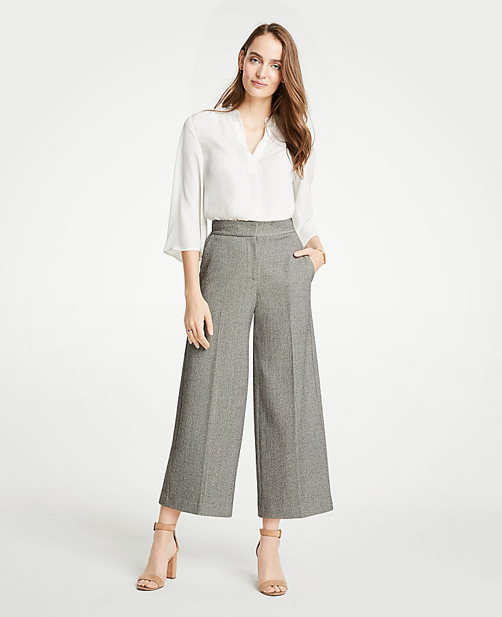 The Petite Dobby Wide Leg Marina Pant