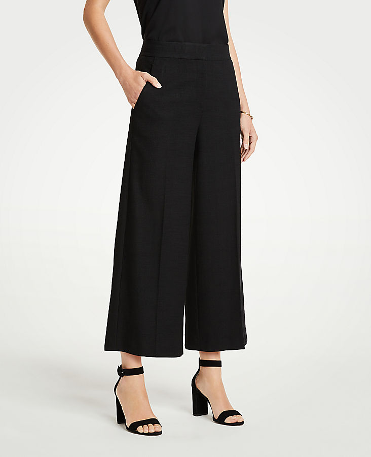 The Tall Houndstooth Wide Leg Marina Pant | Tuggl