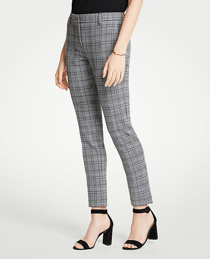 The Petite Ankle Pant In Dash Plaid