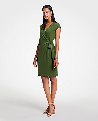 Ann Taylor Petite Cap Sleeve Wrap Dress 25676600
