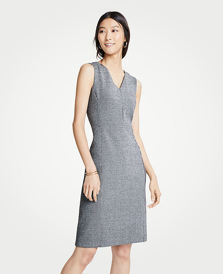 Petite Puppytooth Ponte Sheath Dress