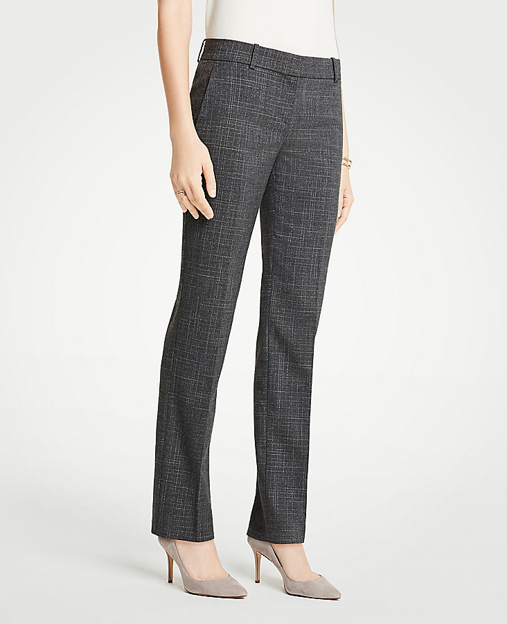 The Petite Straight Leg Pant In Fine Crosshatch | Tuggl