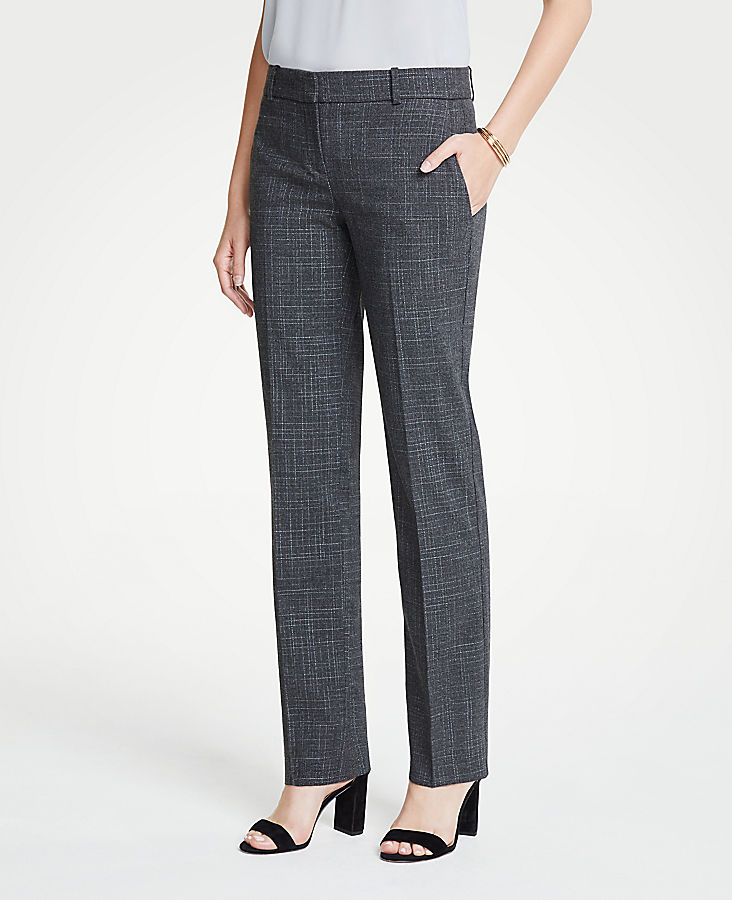 The Petite Straight Leg Pant In Fine Crosshatch - Curvy Fit | Tuggl