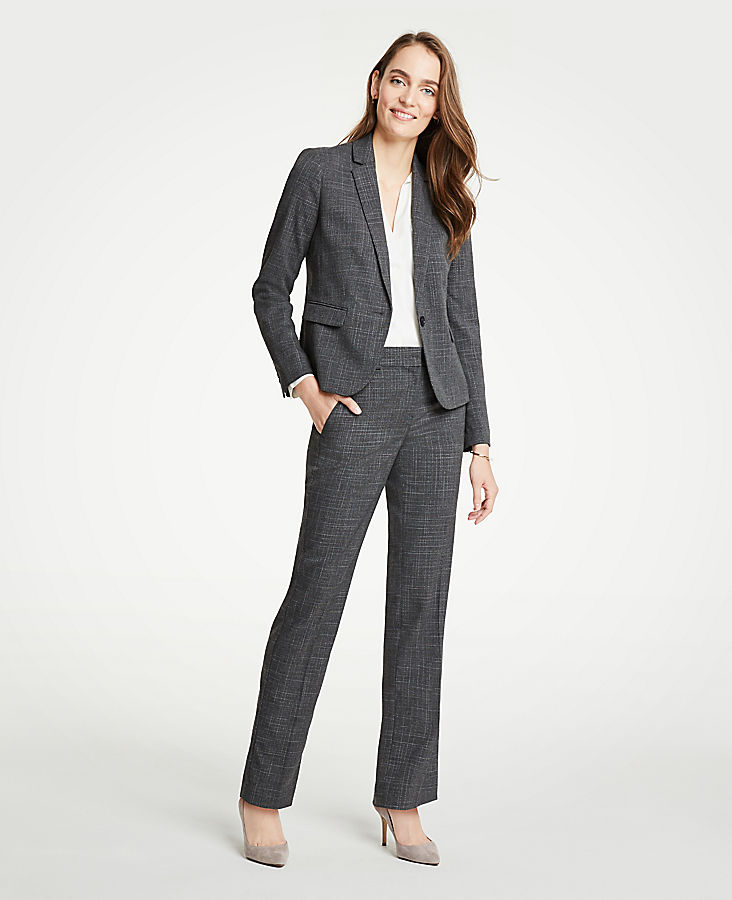 The Tall Straight Leg Pant In Fine Crosshatch - Classic Fit | Tuggl