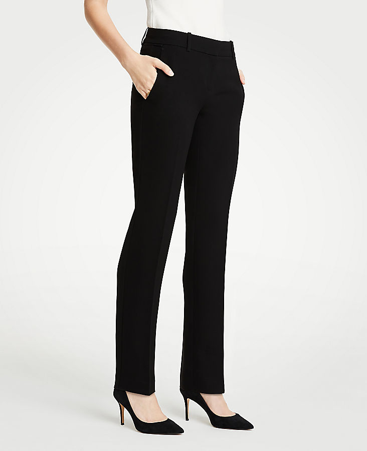 The Petite Straight Leg Pant In Doubleweave