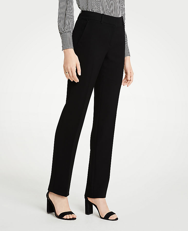 The Petite Straight Leg Pant In Doubleweave - Classic Fit | Tuggl