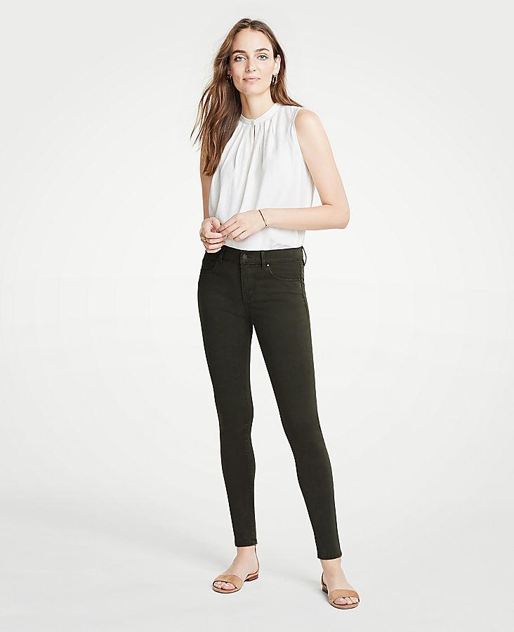 Petite Modern Skinny Jeans In Wild Moss Wash