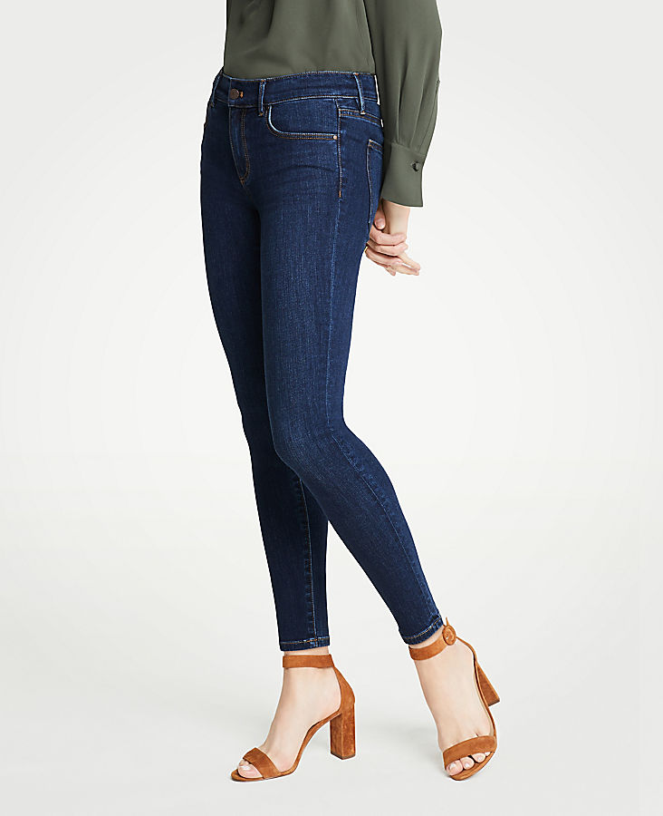 Petite Curvy All Day Skinny Jeans In Mid Indigo Wash