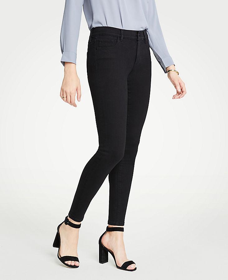 Petite Curvy All Day Skinny Jeans in Black | Tuggl