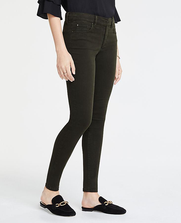 Petite Curvy Skinny Jeans In Wild Moss Wash