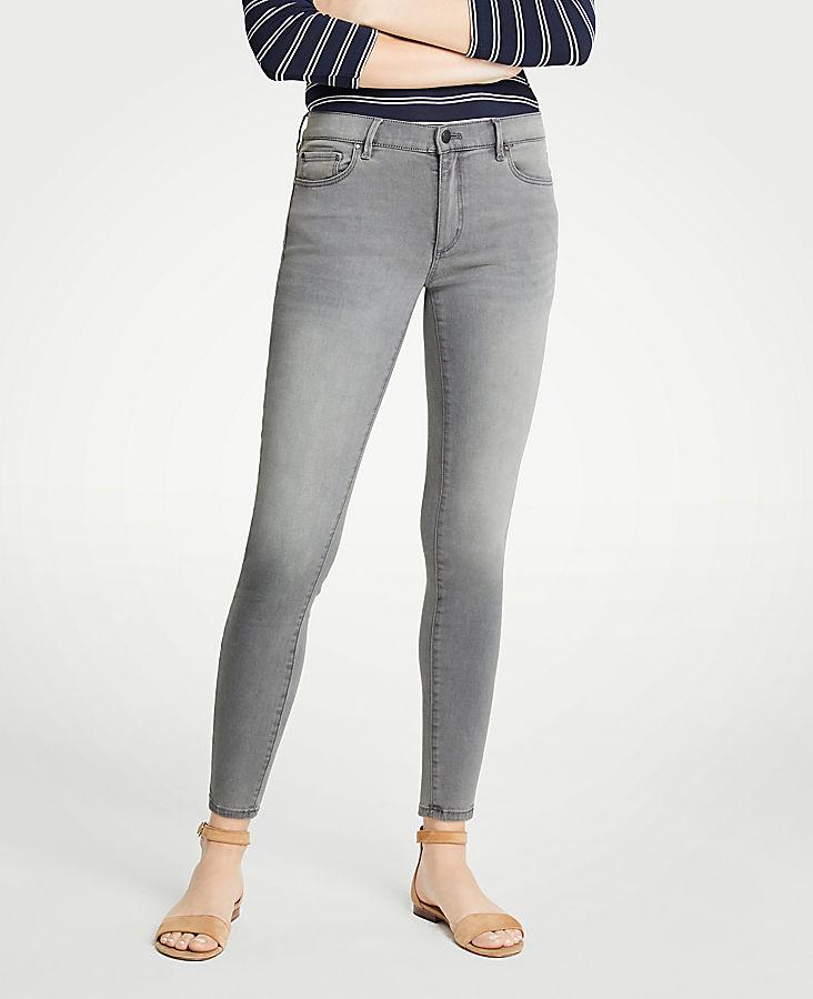 Petite Curvy Skinny Jeans In Mid Grey Wash