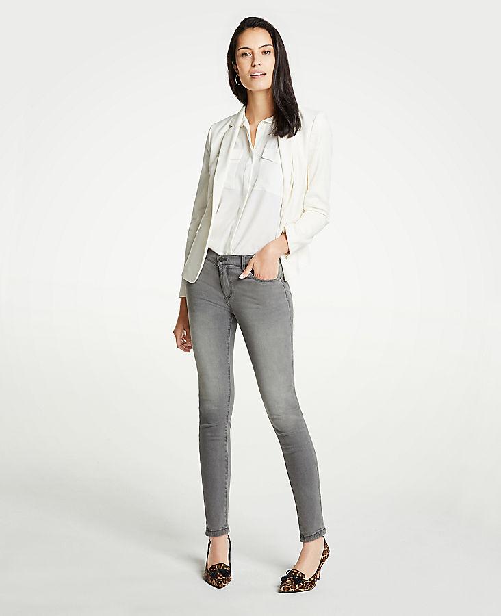Petite Modern Skinny Jeans In Mid Grey Wash | Tuggl