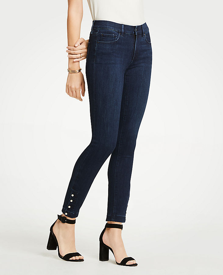 Petite Modern Pearlized All Day Skinny Jeans | Tuggl