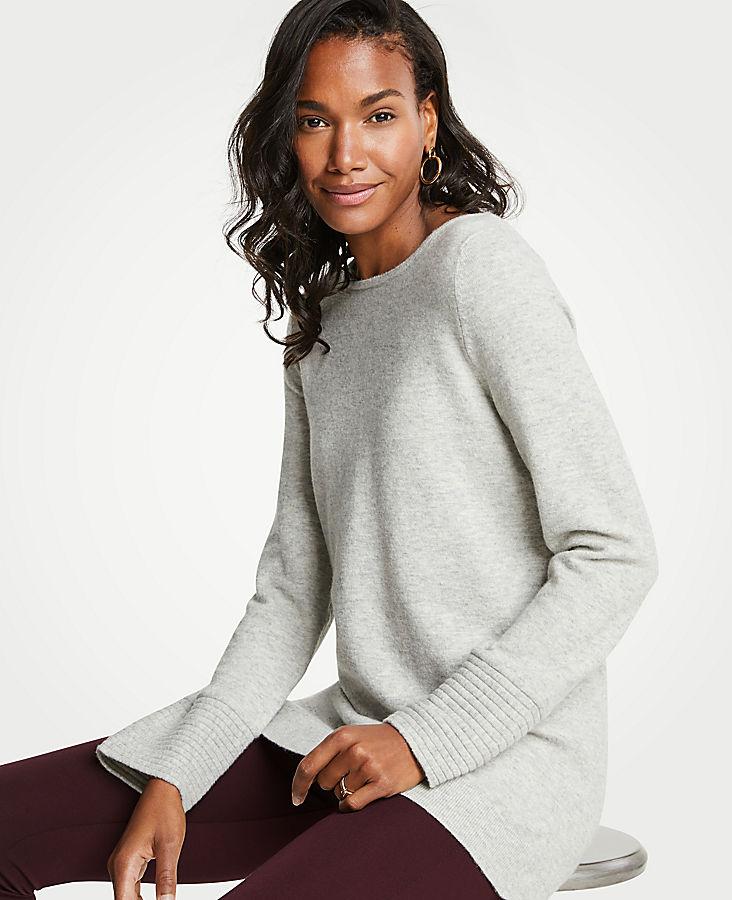 Petite Boatneck Tunic Sweater