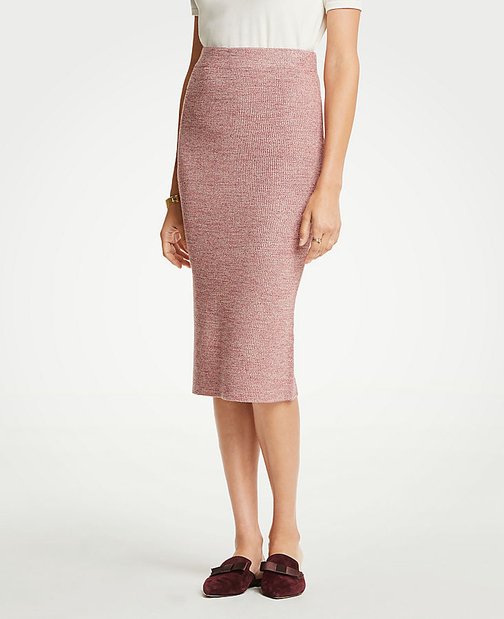 Petite Marled Sweater Pencil Skirt