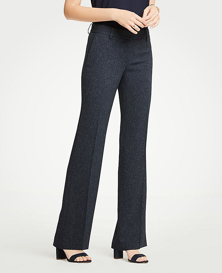 The Petite Madison Trouser In Speckled Twill