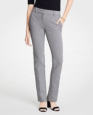 ANN TAYLOR THE PETITE STRAIGHT LEG PANT IN PUPPYTOOTH - CURVY FIT