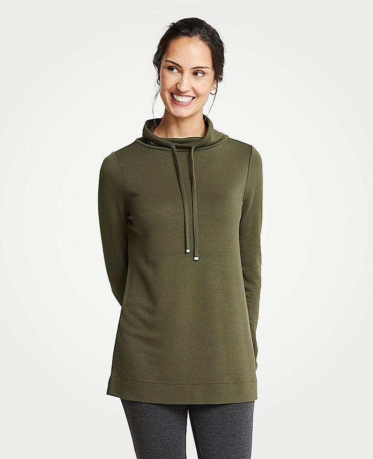 Petite Cowl Neck Sweatshirt