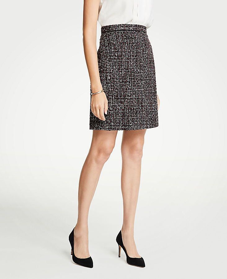 Tall Tweed A-Line Skirt | Tuggl