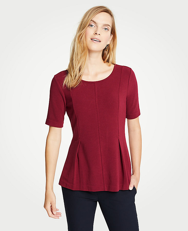 Textured Short Sleeve Top | Tuggl