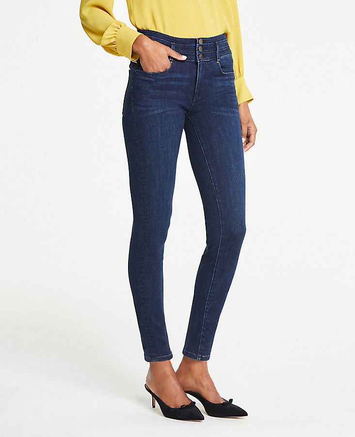 Buttoned High Waist All Day Skinny Jeans | Tuggl