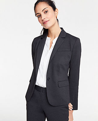 Petite Pindot One Button Blazer in Black Multi from ANN TAYLOR