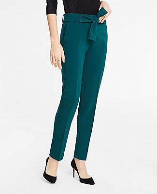 ANN TAYLOR THE TALL ANKLE PANT WITH TIE WAIST