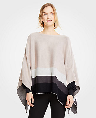 ANN TAYLOR Tipped Cape in Chalky Rose