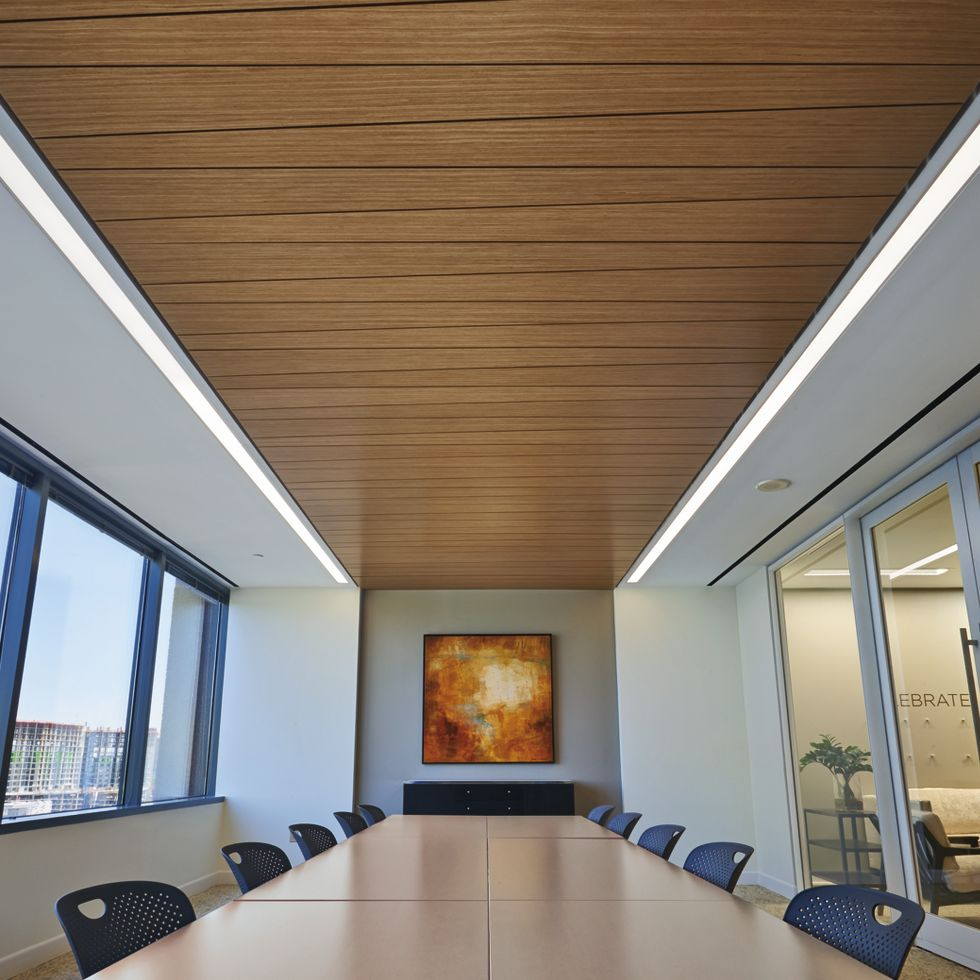 Woodworks Linear Veneered Panels Room Scene