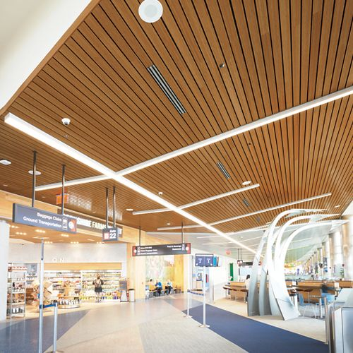 tiles ideas ceiling acoustical linear ceilings paint tile panels armstrong planks wood