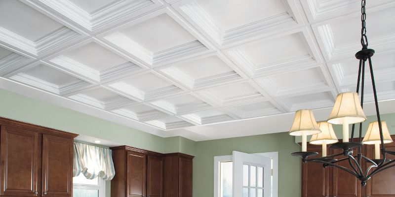Coffered Look Ceilings - 1280BXA   Ceilings   Armstrong ... on pantry kitchen ideas, lighting kitchen ideas, wood kitchen ideas, hardwood floor kitchen ideas, open concept kitchen ideas, screened porch kitchen ideas, bar kitchen ideas, windows kitchen ideas, high ceiling kitchen ideas, wainscoting kitchen ideas, skylight kitchen ideas, balcony kitchen ideas, beamed ceiling kitchen ideas, ceiling fan kitchen ideas, open floor plan kitchen ideas, vaulted ceiling kitchen ideas, great room kitchen ideas, basement kitchen ideas, tray ceiling kitchen ideas, tile kitchen ideas,