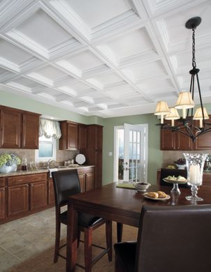 Traditional Kitchen with Coffers