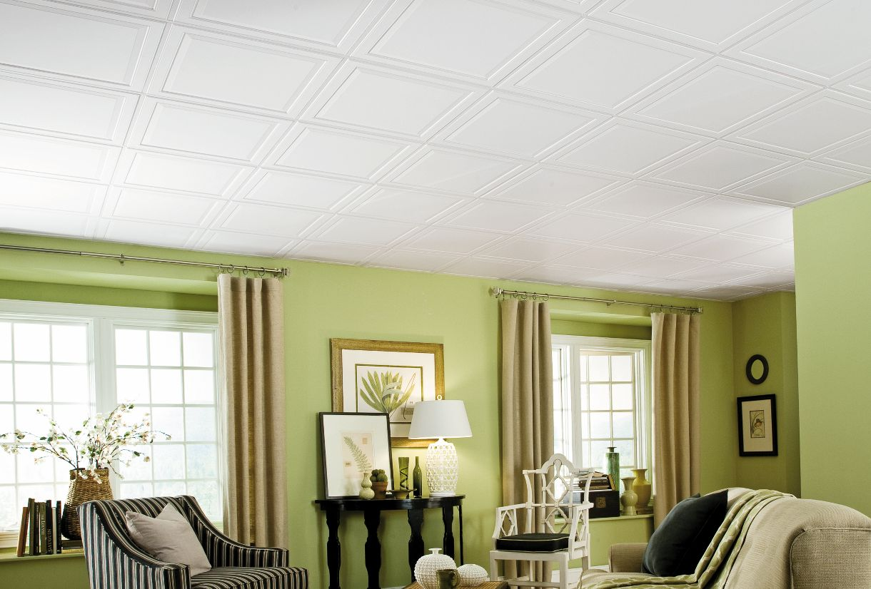 Residential ceilings home design for Armstrong design a room