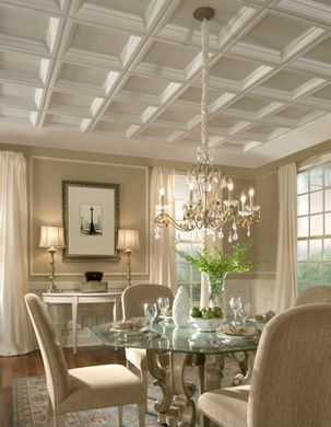 Formal Dining Room with Coffers
