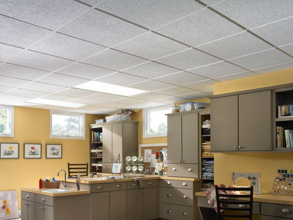 Awesome Acoustic Ceiling Tiles Basement
