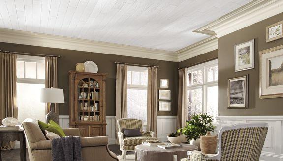 ideas de sala de estar de estilo cabaña Galera De Diseo De Plafones Armstrong Ceilings Residential