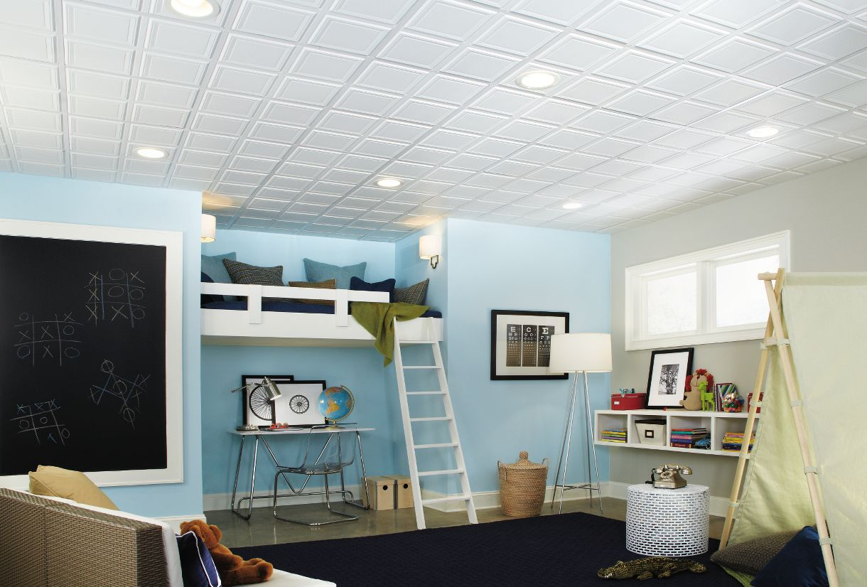 Drop ceiling tiles armstrong ceilings residential raised panel 24 x 24 doublecrazyfo Images