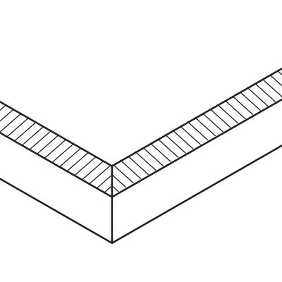 Beveled (long side) / Beveled (short side)