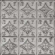 "METALLAIRE Small Floral Circle Backsplash 18.5"" x 48.5"""