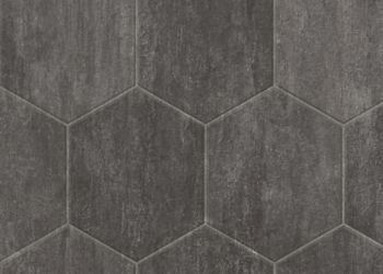 Stone Hex Vinyl Sheet - Slate Gray