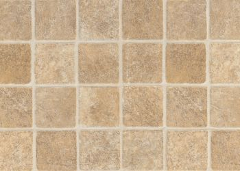 French Paver Vinyl Sheet - Tan