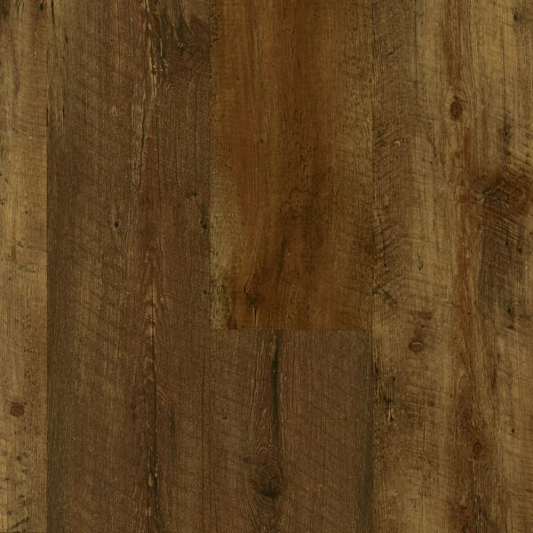 Armstrong LUXE Plank with FasTak Install Farmhouse Plank - Rugged Brown Luxury Vinyl Tile