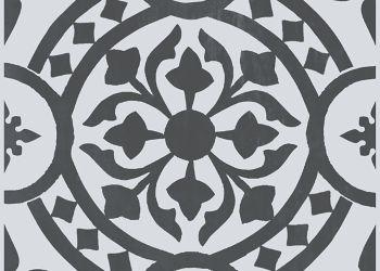 Tuscan Vignette Vinyl Tile - Classic Black
