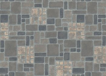 Heritage Brick Lámina de vinil - Serene Blue
