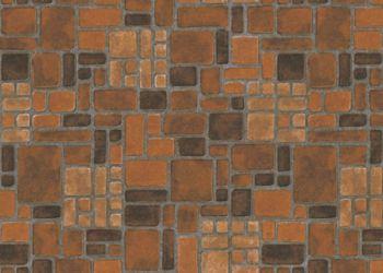 Heritage Brick Lámina de vinil - Coral